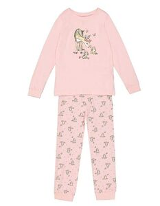 Mädchen Pyjama Set aus Langarmshirt und Hose