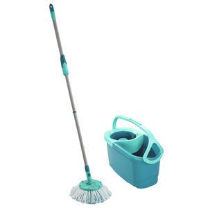 Leifheit Bodenreinigungs-set clean twist disc mop , 52101 Set , Türkis , Metall , 140x30x30 cm , rutschfester Griff, hohe Saugfähigkeit, streifenfreie Reinigung , 003872069901