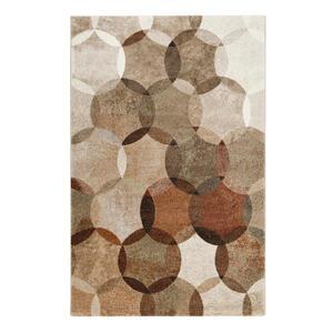 Esprit Webteppich 80/150 cm braun, beige, rotbraun , Modernina Esp-21627 , Textil , Graphik , 80x150 cm , für Fußbodenheizung geeignet, in verschiedenen Größen erhältlich, UV-beständig, Fasern