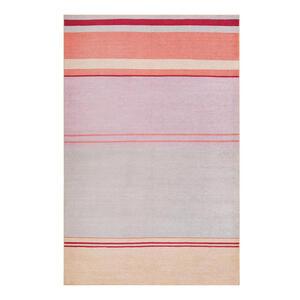 Esprit Flachwebeteppich 120/170 cm grau, orange, rosa, beige , Cleft Esp-20010 , Textil , Streifen , 120x170 cm , für Fußbodenheizung geeignet, in verschiedenen Größen erhältlich, für Hausstaub