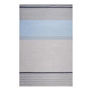 Esprit Flachwebeteppich 120/170 cm braun, grau, hellblau , Camps Bay , Textil , Streifen , 120x170 cm , für Fußbodenheizung geeignet, in verschiedenen Größen erhältlich, für Hausstauballergiker