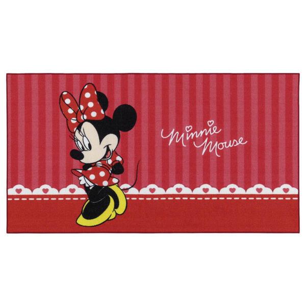 Disney Kinderteppich 80/140 cm rot, schwarz, weiß , Minnie Mouse , Textil , 80x140 cm , 008073001854