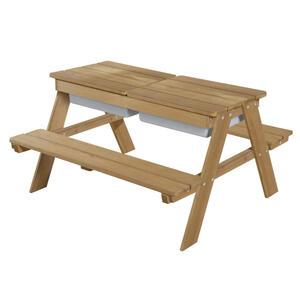 Roba Kindersitzgruppe , 456002Te Outdoor+ , Teakfarben , Holz , 89x50x85.5 cm , lasiert , 004204015901