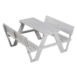 Roba Kindersitzgruppe , 456007Ga Outdoor + , Grau , Holz , 107x50.5x89 cm , lasiert , 004204016002