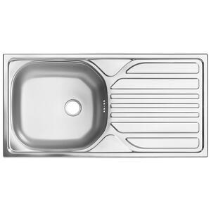 Carryhome Spüle , 11-102-80 , Edelstahlfarben , Metall , 86x43.5 cm , 001279002301