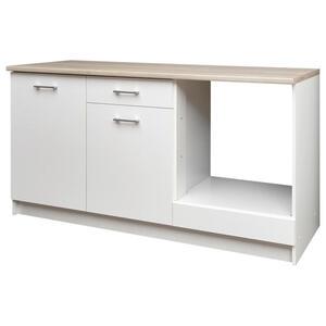 Carryhome Küchenleerblock , WOW 160 , Weiß, Sonoma Eiche , 1 Schubladen , 160x85x60 cm , matt , 001279002601