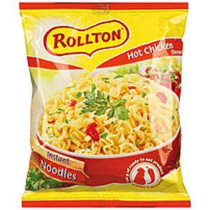 """Instantnudelsuppe mit Hühnerfleischgeschmack scharf """"Rollton..."""