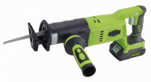 Greenworks Akku-Säbelsäge 24 V ,  ohne Akku und Ladegerät, inkl. 2 Sägeblätter