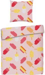Kinderbettwäsche Eis am Stiel, Cretonne, rosa, 135 x 200cm pink