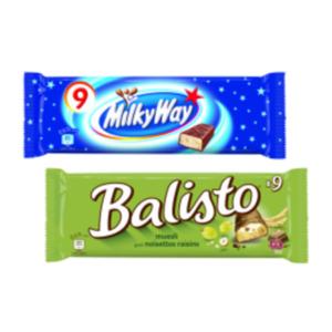Balisto Riegel, Milky Way oder Bounty