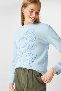 C&A Sweatshirt-Disney Prinzessin, Türkis, Größe: M