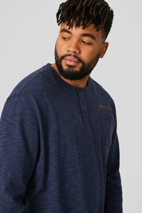 C&A Langarmshirt-Bio-Baumwolle, Blau, Größe: 6XL
