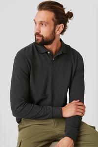C&A Poloshirt-Bio-Baumwolle, Grau, Größe: M