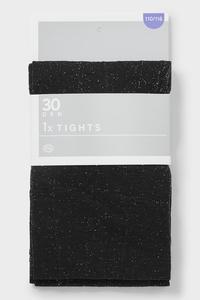 C&A Feinstrumpfhose-30 den, Schwarz, Größe: 146/152