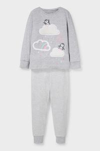 C&A Pyjama-Bio-Baumwolle-2 teilig, Grau, Größe: 116