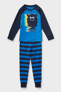 C&A Pyjama-Bio-Baumwolle-2 teilig, Blau, Größe: 116