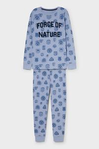 C&A Pyjama-Bio-Baumwolle, Blau, Größe: 176