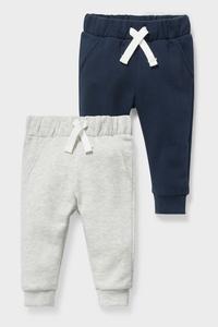 C&A Baby-Jogginghose-2er Pack, Blau, Größe: 92