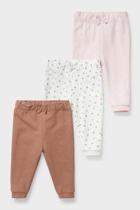 C&A Baby-Jogginghose-Bio-Baumwolle-3er Pack, Rosa, Größe: 98