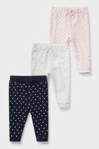 C&A Baby-Jogginghose-Bio-Baumwolle-3er Pack, Blau, Größe: 98