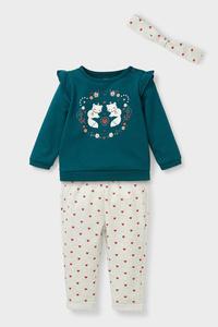 C&A Baby-Outfit-3 teilig, Grün, Größe: 98
