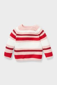 C&A Baby-Pullover-Bio-Baumwolle-gestreift, Rosa, Größe: 86