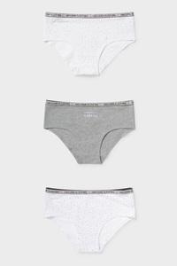 C&A Hipster-Bio-Baumwolle-3er Pack, Weiß, Größe: 158/164