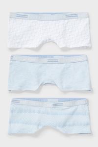 C&A Boxershorts-Bio-Baumwolle-3er Pack, Blau, Größe: 170/176