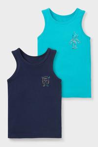 C&A Singlet-Bio-Baumwolle-2er Pack, Blau, Größe: 98/104