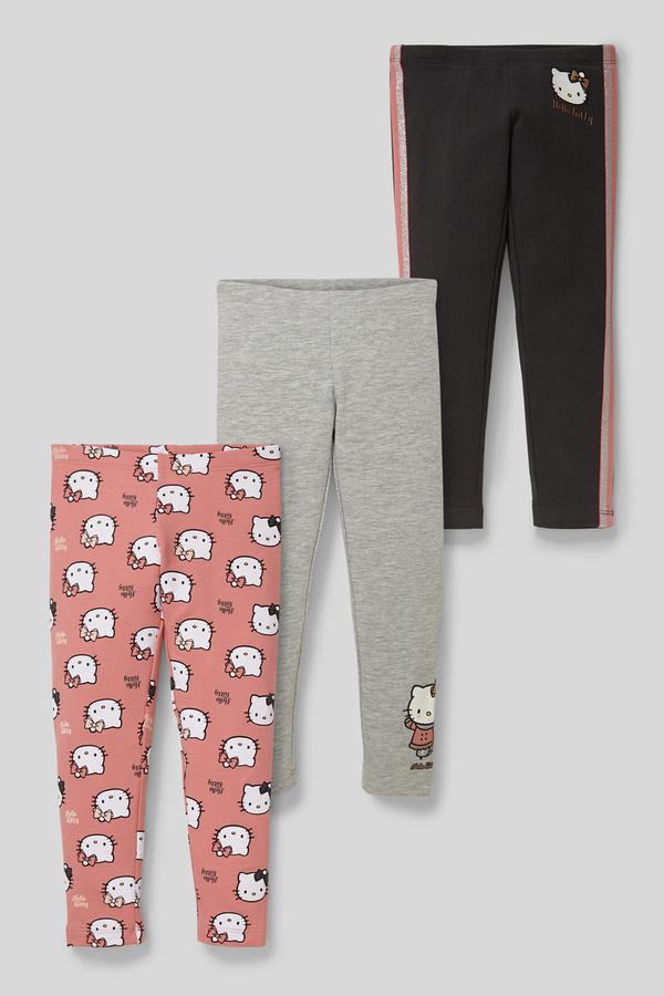 Hello Kitty - Leggings - Bio-Baumwolle - 3er Pack