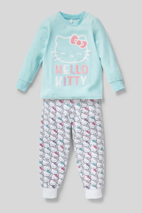 C&A Hello Kitty-Pyjama-Bio-Baumwolle-2 teilig, Türkis, Größe: 104