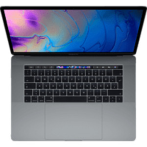 APPLE MacBook Pro MR932D/A-139856 mit französischer Tastatur, Notebook 15,4 Zoll Display, Core™ i9 Prozessor, 16 GB RAM, 2 TB SSD, Radeon™ 555X, Space Grau