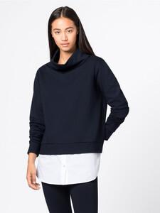 Two-in-One-Sweatshirt mit Stehkragen