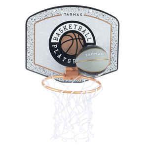 Basketballkorb SK100 Mini Playground Kinder/Erwachsene grau inklusiv Ball