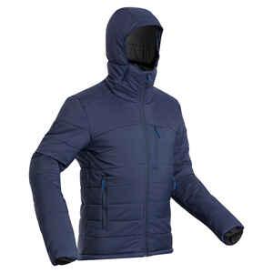 Wattierte Jacke Trek 500 Komforttemperatur -10 °C Herren marineblau