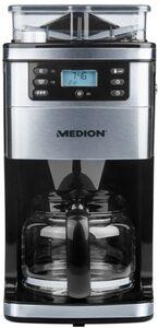 Medion® Kaffeemaschine mit Mahlwerk MD 15486 - 50060877, 1,5l Kaffeekanne, Permanentfilter