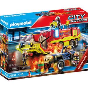 PLAYMOBIL® City Action - Feuerwehreinsatz mit Löschfahrzeug 70557, Licht, Sound