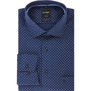 Olymp Luxor Businesshemd, Modern Fit, Kent-Kragen, bügelfrei, gemustert, für Herren