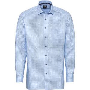 Olymp Luxor Businesshemd, Modern Fit, Kent-Kragen, bügelfrei, gepunktet, für Herren