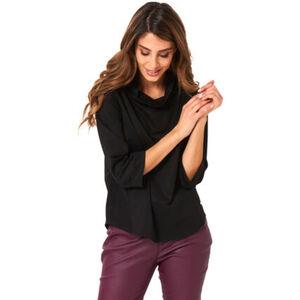 MANGUUN Collection Shirt, uni, Schlauchkragen, 3/4 Arm, für Damen