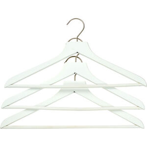 K|town Kleiderbügel-Set mit Steg, 3-teilig, weiß
