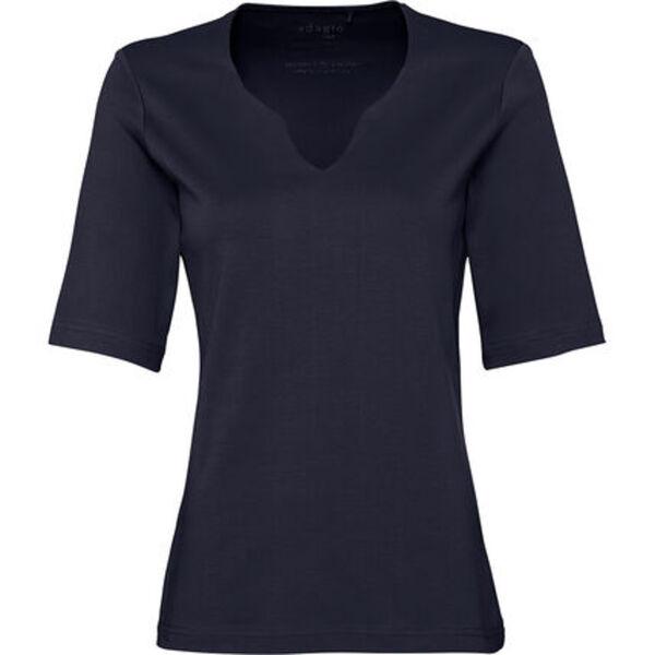 """Adagio T-Shirt """"Sibie"""", Split-Neck, uni, für Damen"""