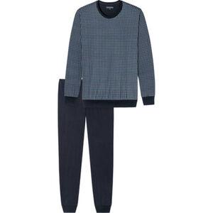 Schiesser Essentials Schlafanzug, Langarm, Rundhals, Bündchen, für Herren