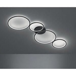 Trio LED-Deckenleuchte Rondo Schwarz matt