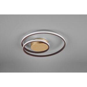 Reality LED-Deckenleuchte Zibal Rostbraun-Goldfarben
