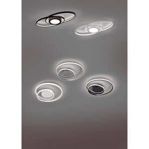 Reality LED-Deckenleuchte Zibal Schwarz matt