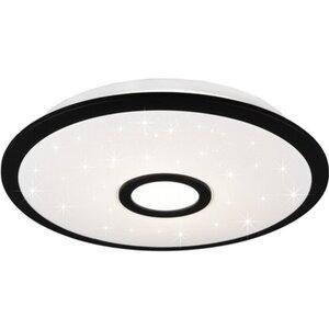 Trio LED-Deckenleuchte Okinawa Schwarz matt-Weiß 18 W Ø: 42 cm