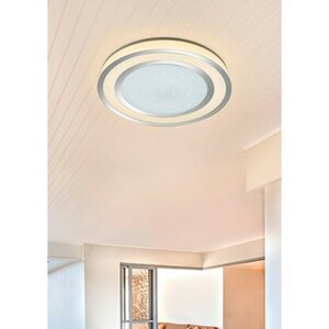 Trio LED-Deckenleuchte Noriaki Sternenhimmel Ø 59,5 cm Chrom