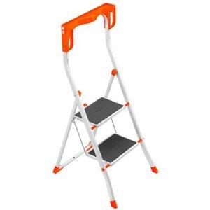 Hailo Klapptritt K58 Weiß-Orange 2-stufig