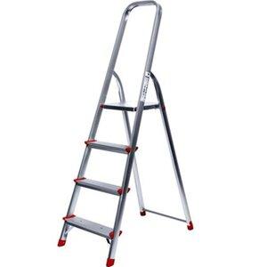 Alu-Haushaltsleiter 4-stufig Arbeitshöhe 3 Meter